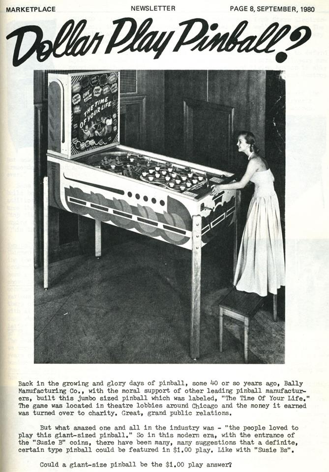 1930's pinball - $1 per game no flippers
