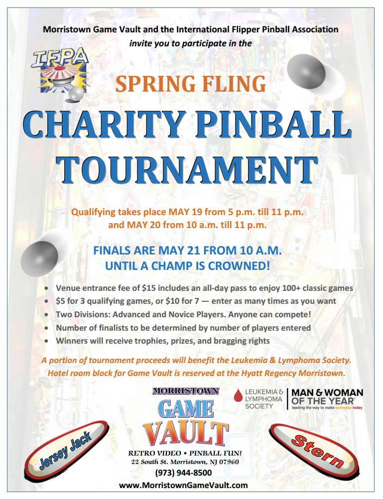 Spring Fling at the Morristown Game Vault – Tournament Rule Set – May 19 – 21, 2017