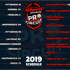 2019 Circuit Event Tournament List