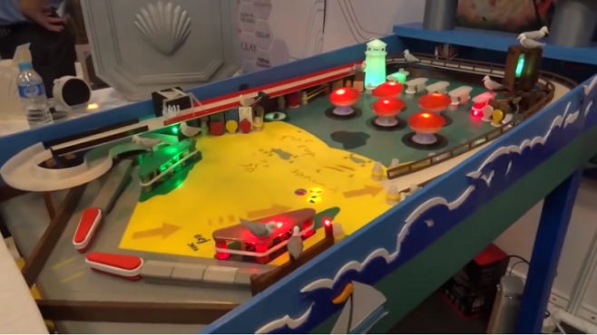 Man 3D prints a fully functional, full size pinball machine