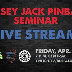 Appointment Streaming: Jersey Jack Pinball at MGC, April 12 at 7PM Central