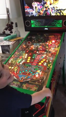 Three-year old pinball enthusiast in training.