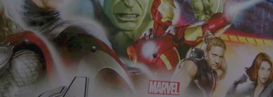 Avengers spotlight and overhead gameplay