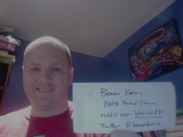 World Pinball Champion on Reddit!