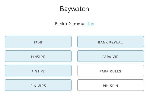 PinballSpinner Pinburgh Bank Links