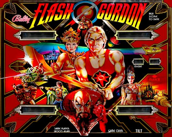 Look over there ... Bally's Flash Gordon is in the tournament.