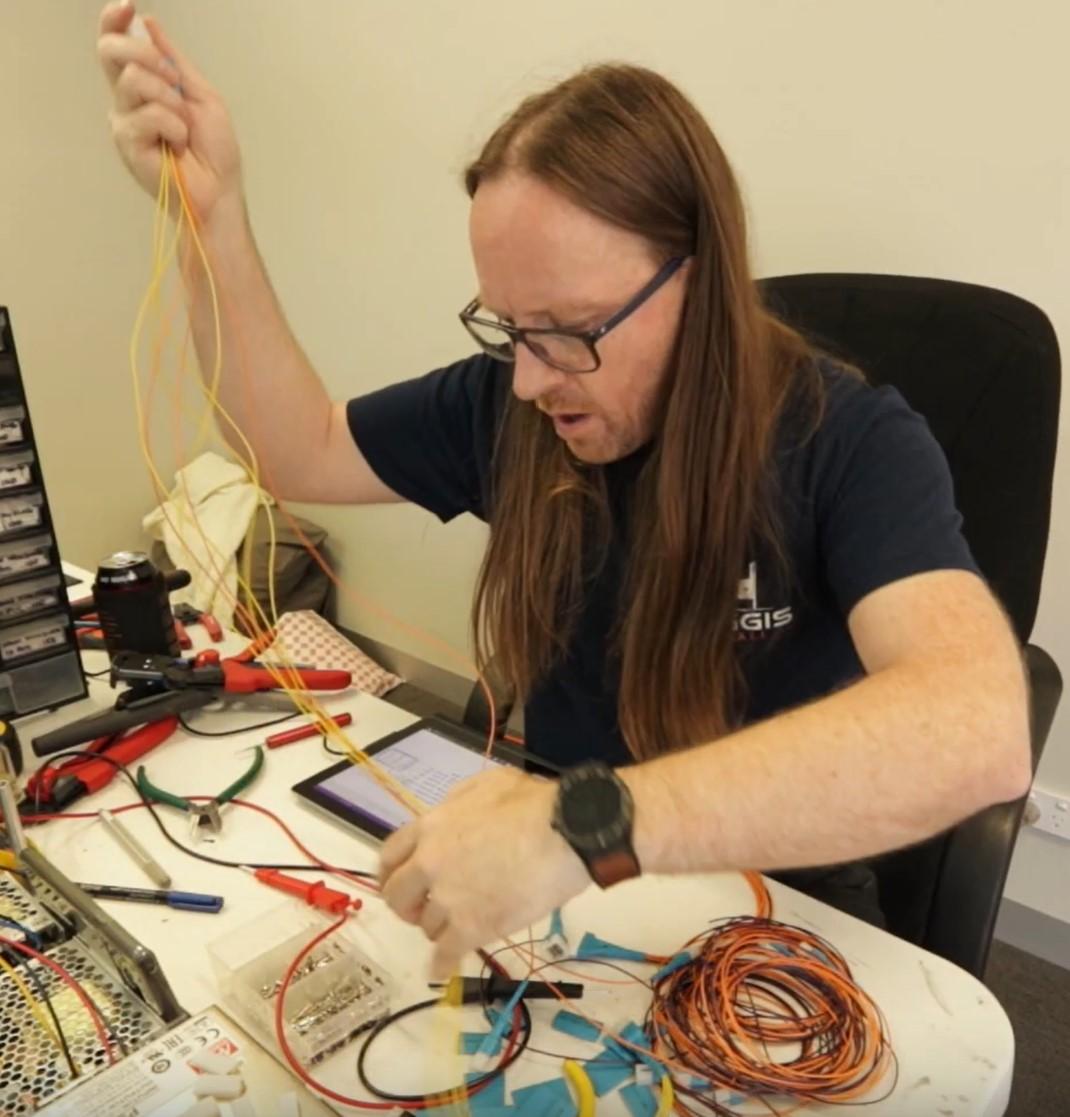 Haggis Pinball: Half a mile of wire?