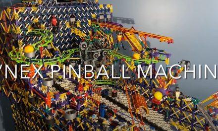 K'NEX Full-Sized Pinball Machine! (with automatic scoring)