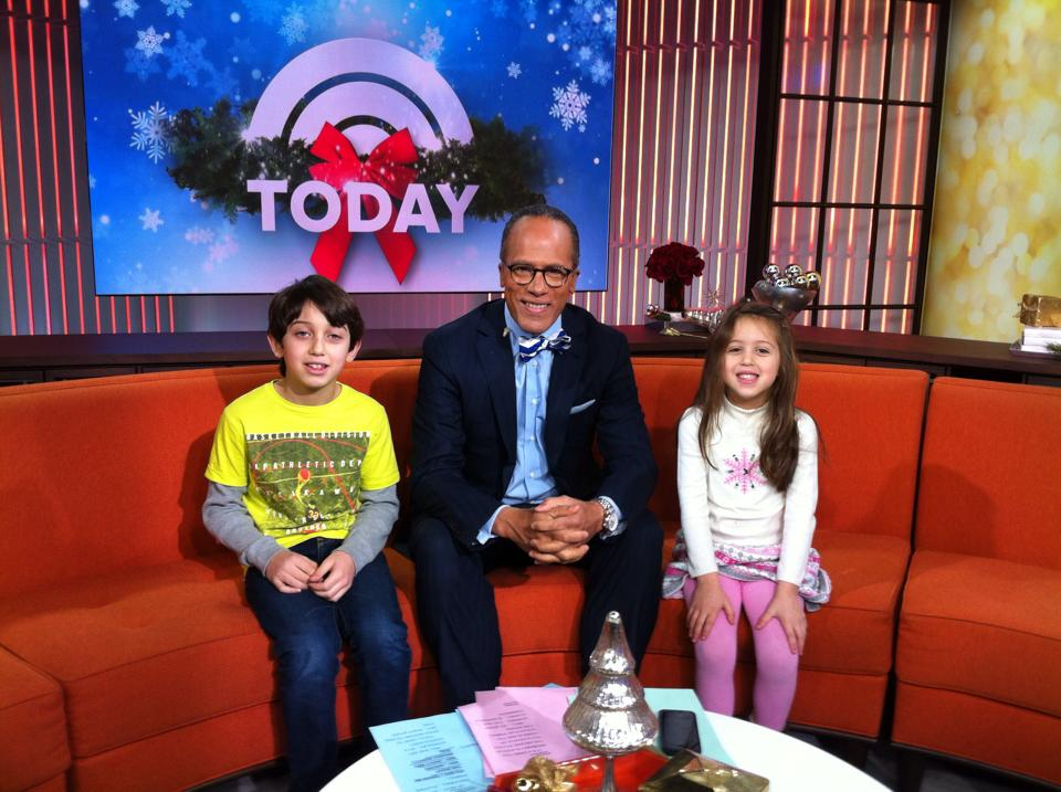 Lester Holt and the Zahlers