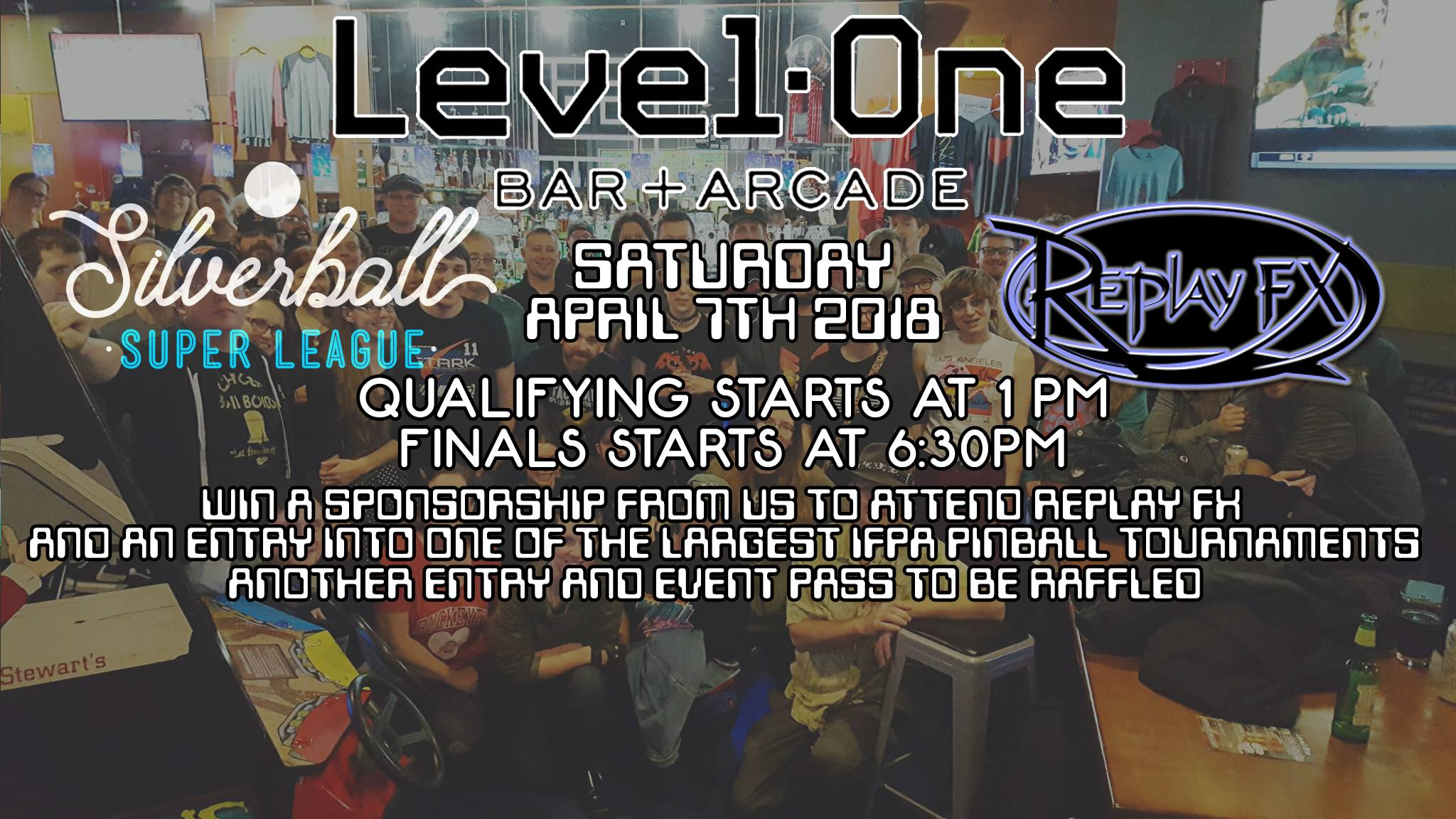 Pinburgh Tickets! Level One Bar and Arcade to give away two tickets to the competition and ReplayFX!