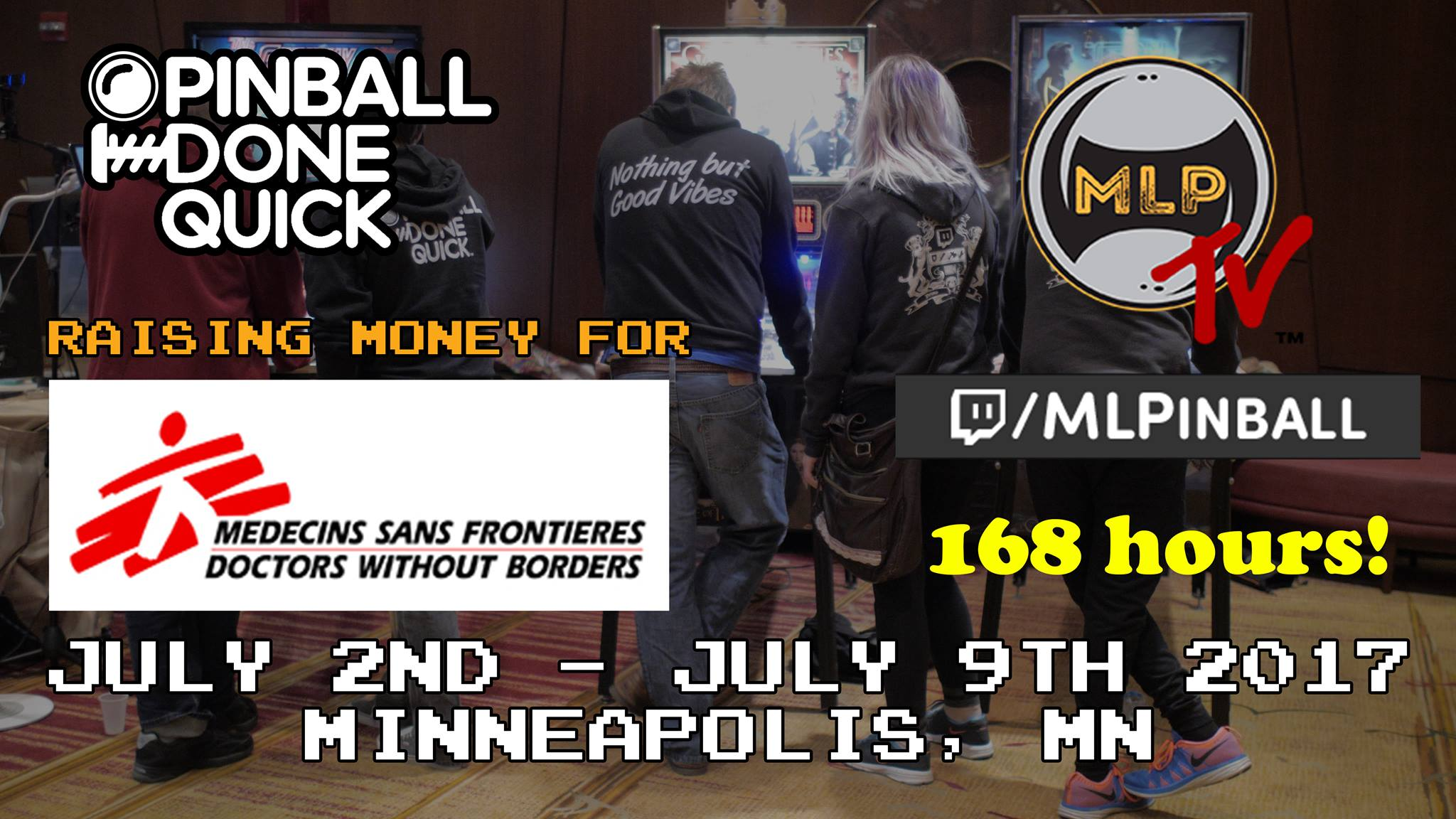 168 straight hours of pinball streaming! Major League Pinball! July 2-9 at Summer Games Done Quick!