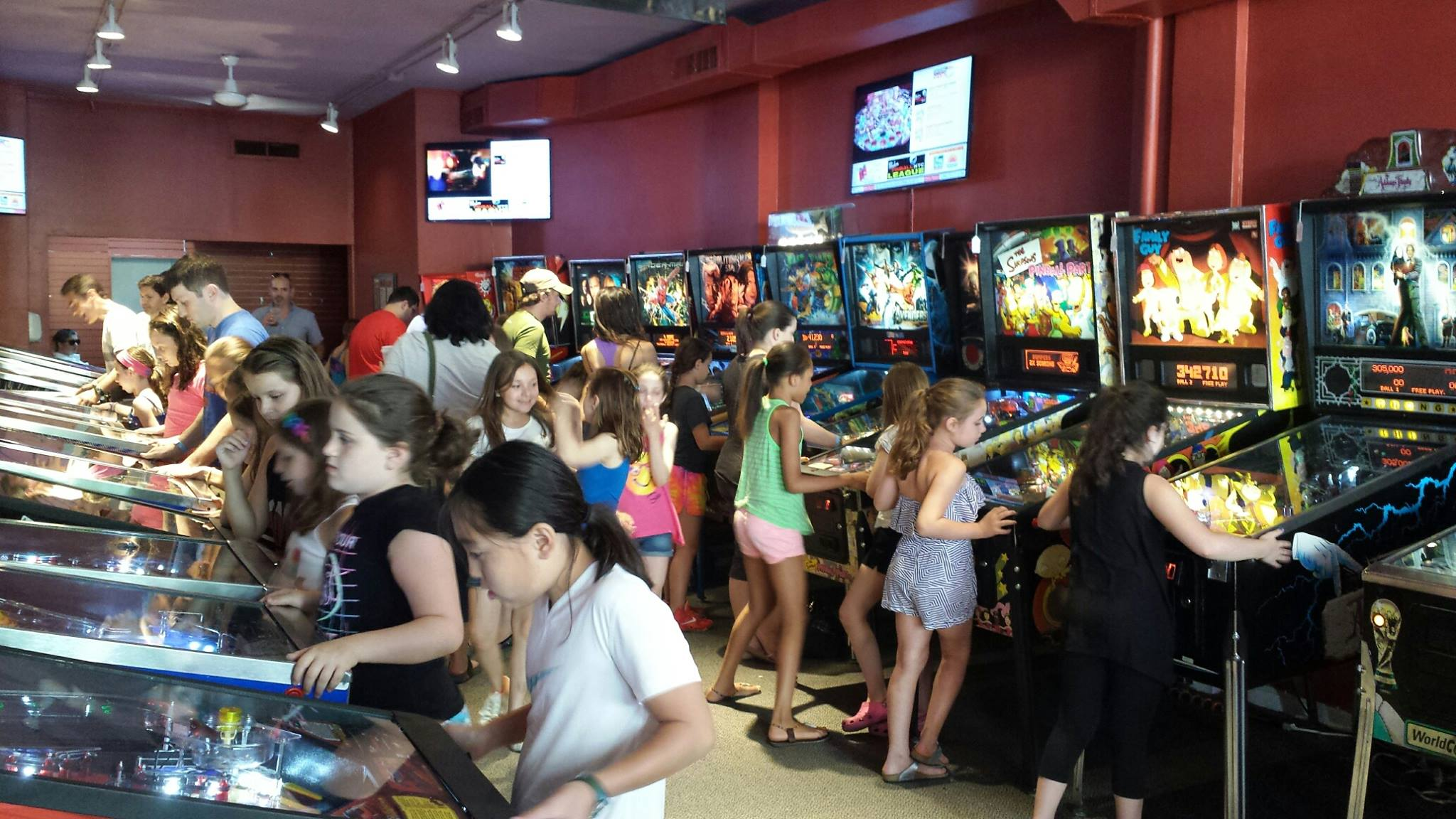 These kids today ... they enjoy pinball!