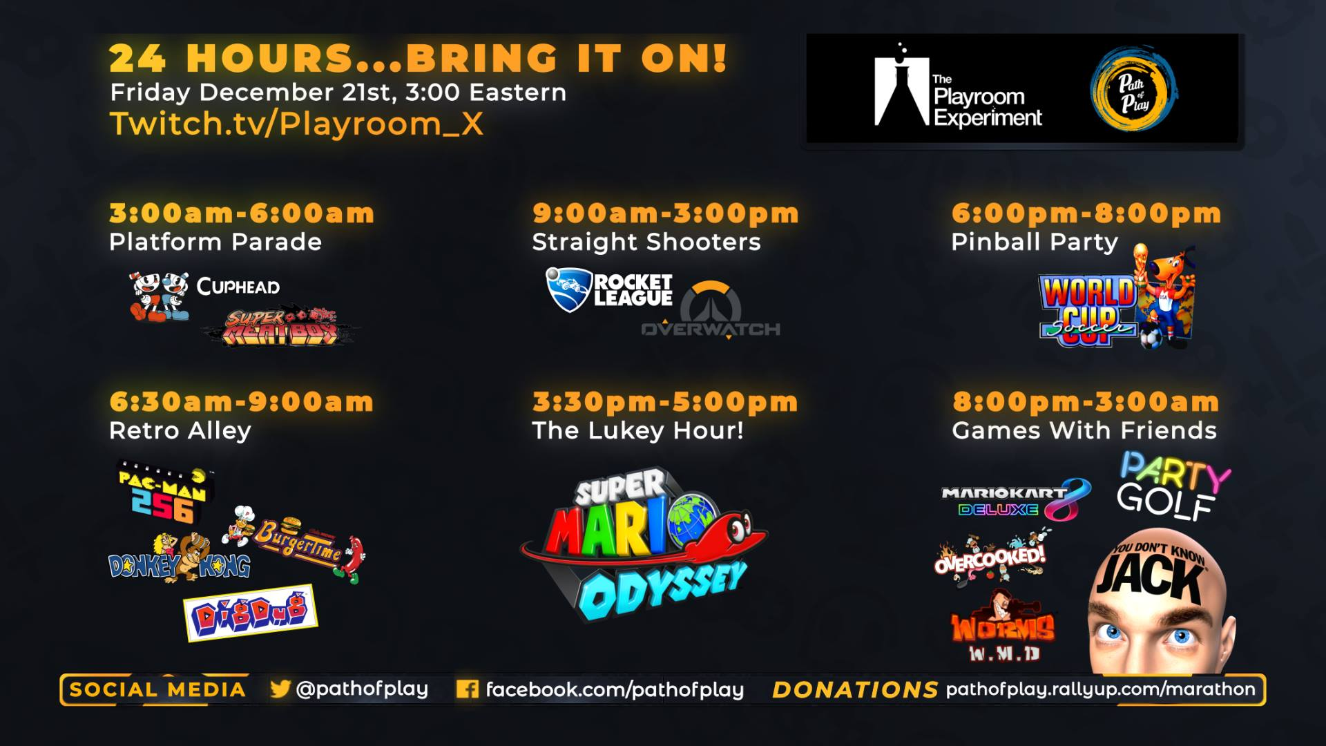 Path of Play Day Marathon! 12/21 at 3AM Eastern