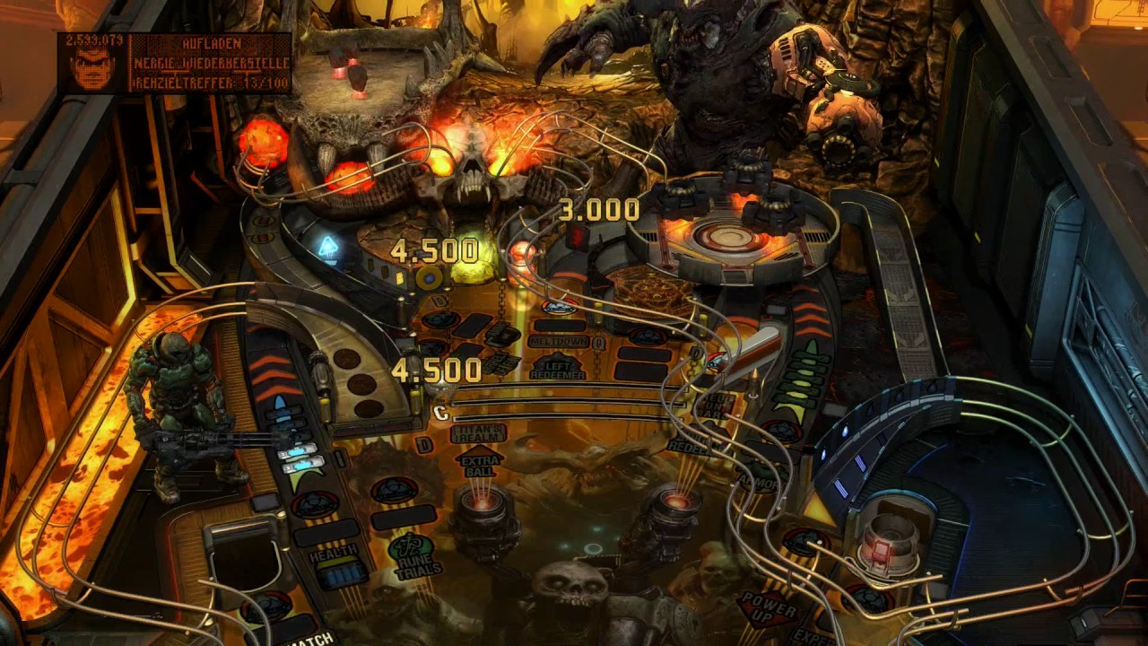 Pinball Playthrough: pinballwiz45b vs. Pinball FX – DOOM