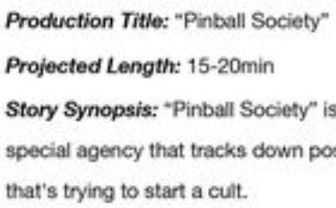 "Pinball Student Film Actor Casting Call: ""Pinball Society"""