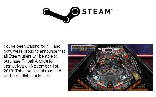 PinballArcade-Steam-Press