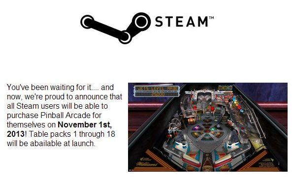 PinballArcade-Steam-Press