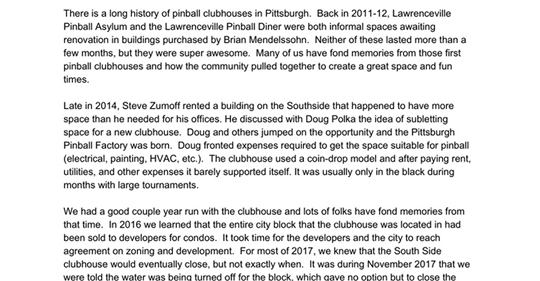Pittsburgh Pinball Dojo – origin story