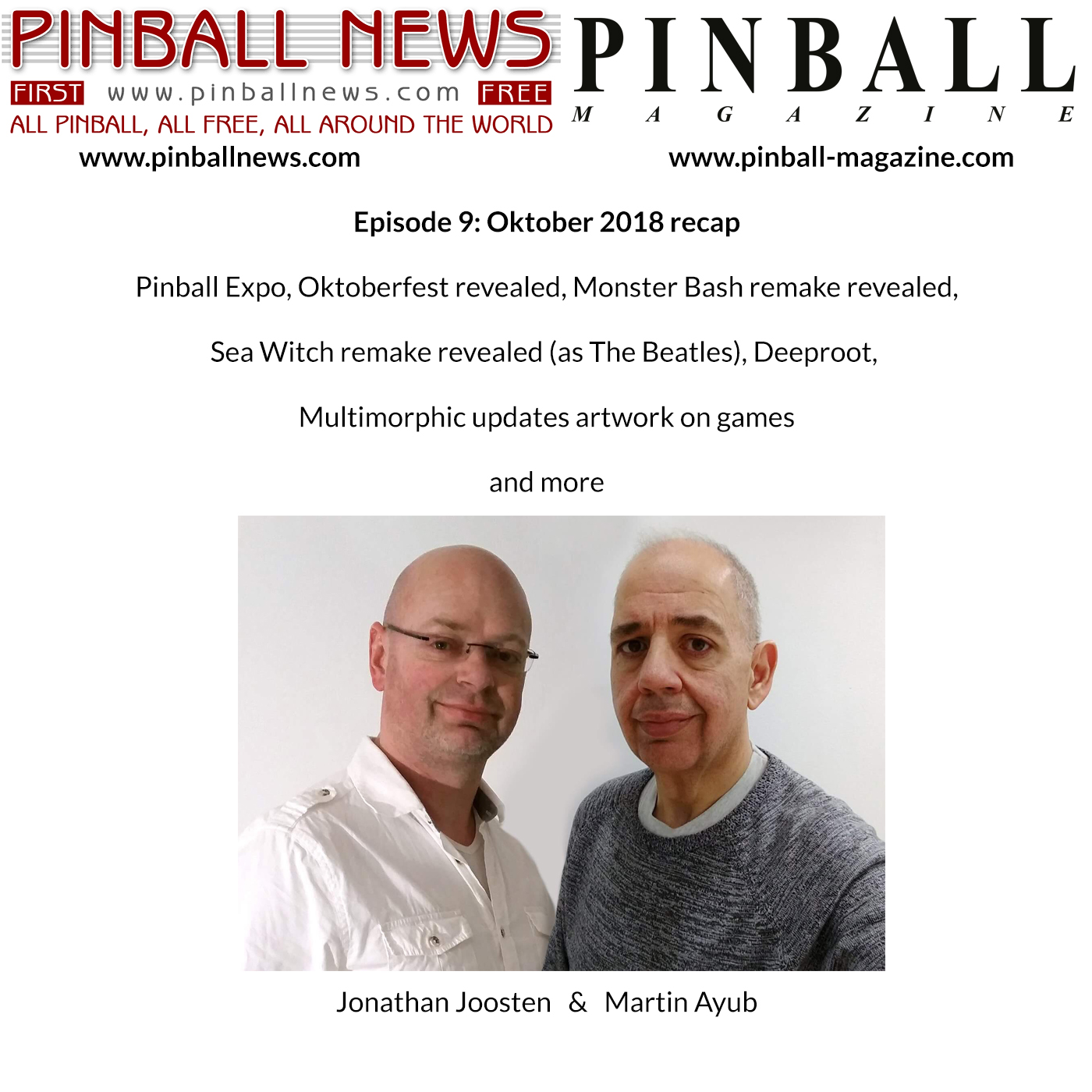 Pinball News Magazine – Oktober Stories and Stern Beatles