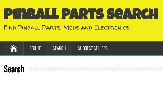 Pinball Parts Search