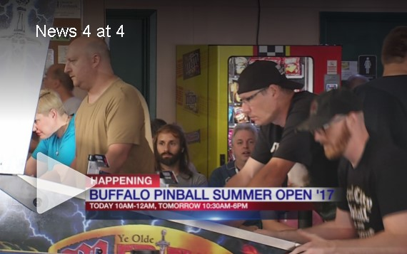 WIVB Channel 4 Buffalo covers the Buffalo Pinball Summer Open