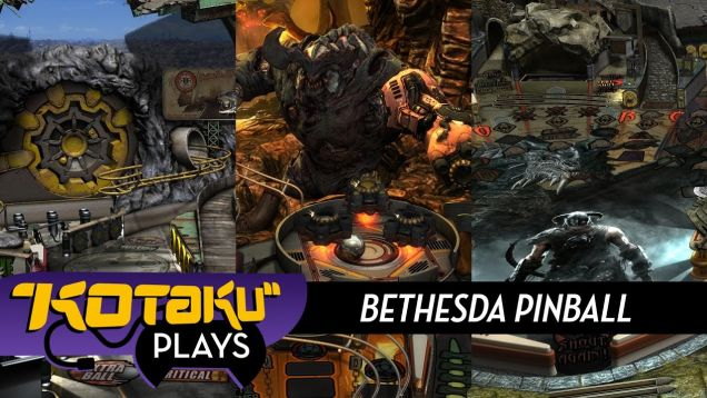 Skyrim, Fallout And Doom Make For Three Very Cool Pinball Tables [Kotaku]